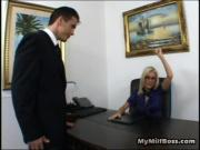 Stunning Blond Boss Fucks Her Employee