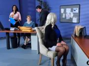Huge boobs Ava Addams introduces new girl to her boss