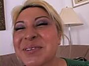 A Blonde With A Dildo Equals Orgasm