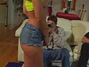 Gia Jordan does anal in hot fishnet