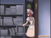 Hentai maids brutally mouth and wetpussy fucked