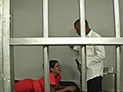 Inmate Gal In Glasses Fucks Guard
