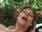 Horny granny Juditta wants to drain that hard dick dry