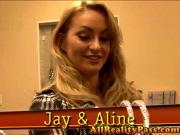 Aline#39;s Hubby Gets an Eye Full