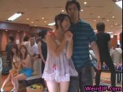 Three Game Asian Girls Gets Molested In A Bowling Game