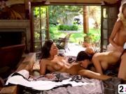 Vanessa Veracruz Lesbian Threesome Big Tits Pussy Licking