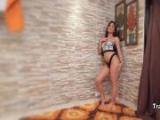 Latina tranny jerking until cumshot