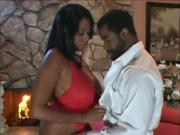 Sinful Ebony Babe Blows & Screws Eager Cock