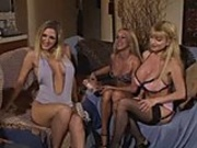 Three busty blondes fuck each other