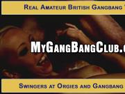 British Amateurs In Hardcore Gang Bang