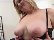 Naughty and horny BBW slut gets juicy pussy spread and stuffed