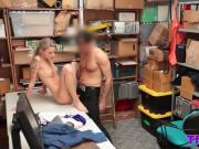 Amazing blonde babe was fucked in the managers office for shoplifting