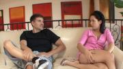 Amazing Girl Sucks A Huge Shaft She Gets Insanely Banged By It On This Sofa
