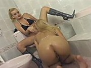 Blonde whores love getting hot and steamy in lesbian sex session