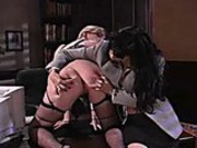 Mistress likes to give hard spankings to her pretty little slut