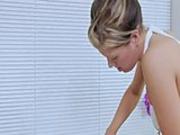 Nasty massage girl deep throats a cock