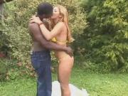 Latin chick gets fucked outdoors