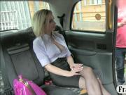 Busty babe fucked by pervert driver on tophood of the taxi