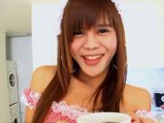 Ladyboy schoolgirl shows off her teen body and jerks off