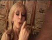 Nina Hartley devours a big black cock