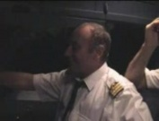 French slut shows her assets to the plane captain