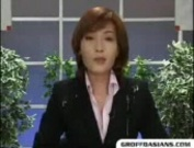 Newsreader Bukkake-Funny