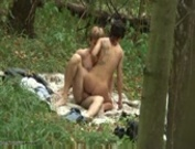 Amateur fucking forest couple