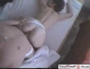 Hot handcuffed girlfriend sucks and fucks