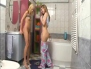 Teen Lesbians Fuck Each Other With Their Toothbrushes