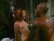Sexy nurse Gwen Summers takes care of big black cock