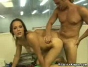 Latin swimsuit model fucks a grip backstage at a competition
