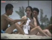 Chick with huge its naked at the beach