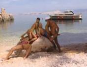 Maya Gold,Niky,Sandy Style Fuck Captain's Cock On Rock