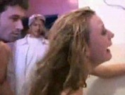 Gangbang in bathroom at college party