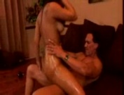 Leah Jaye oiled up and sexy fucked