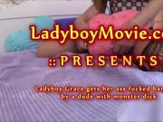 Young Ladyboy Grace Fucked Bareback
