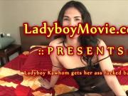 Ladyboy Kawhom Fucked Bareback
