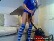 Experimental Gal Pleasures Pussy With Vacuum