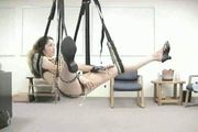 horny amateurs use sex swing