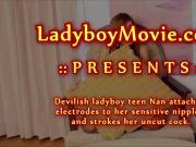 Ladyboy Nan Jerking Off