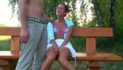 Beauty Cums Over Boyfriend Where Everybody Can Watch