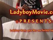Ladyboy Many Fucked Bareback
