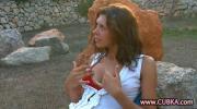 Sexy Babe Naked Masturbates Pussy