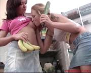 hotties use fruit and veg for toys