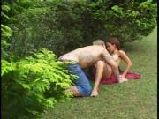 Brazilian Babe Goes Anal Outdoor