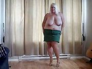 Slutty Titanic-Titted Older Woman Works Clit All Alone