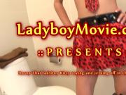Ladyboy Kitty Toying and Stroking