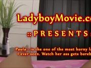 Ladyboy Whore Paula Barebacked