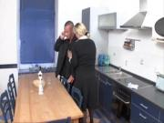 older lady fucked in kitchen