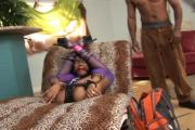 Slutty Choc Chick Sucks On And Rides Big Black Dicks